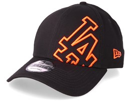 Los Angeles Dodgers Oversized Basic 9Forty Black/Orange Adjustable - New Era