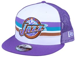 Utah Jazz Stripe 9Fifty White/Purple Trucker - New Era
