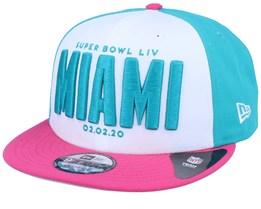Super Bowl LIV Miami 9Fifty White/Teal/Pink Snapback - New Era