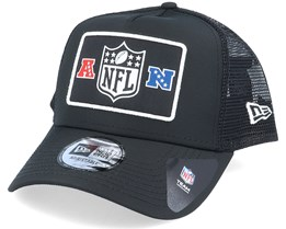 NFL Wordmark Black/White Trucker - New Era