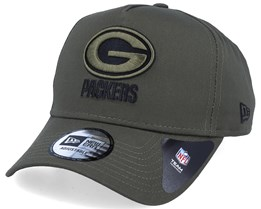 Green Bay Packers A-Frame Olive Adjustable - New Era