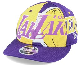 LA Lakers All Over 9Fifty Low Profile Purple/Yellow Adjustable - New Era