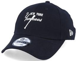 New York Yankees Vintage 9Forty Black/White Adjustable - New Era