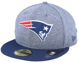 New England Patriots Jersey Essential 59Fifty Heather Grey/Navy Fitted - New Era