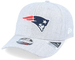 New England Patriots Heather Base 9Fifty Stretch Snap Heather Grey/Navy Adjustable - New Era