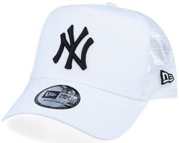 New York Yankees Essential A-Frame White/Black Trucker - New Era