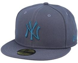 New York Yankees Essential 59Fifty Dark Grey/Steel Blue Fitted - New Era