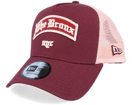 The Bronx Borough A-Frame Maroon/Pink Trucker - New Era
