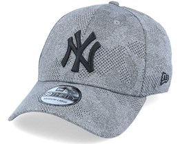 New York Yankees Engineered Plus 39Thirty Heather Grey/Black Flexfit - New Era