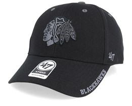 Chicago Blackhawks Defrost 47 Mvp Wool Black Adjustable - 47 Brand