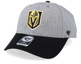Vegas Golden Knights Palomino Two Tone 47 Mvp Heather/Black Adjustable - 47 Brand