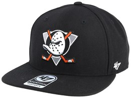 Anaheim Ducks No Shot 47 Captain Black/White & Orange Snapback - 47 Brand