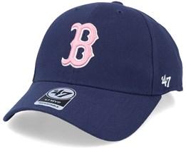 Boston Red Sox Mvp Light Navy/Pink Adjustable - 47 Brand