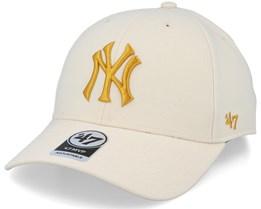 New York Yankees Mvp Natural/Gold Adjustable - 47 Brand