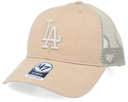 Los Angeles Dodgers Branson Mvp Khaki Trucker - 47 Brand