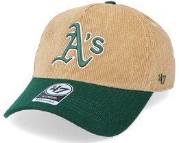 Oakland Athletics Corduroy Mvp DT Khaki/Green Adjustable - 47 Brand