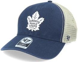 Toronto Maple Leafs Flagship Wash Mvp Vintage Navy/Beige Trucker - 47 Brand