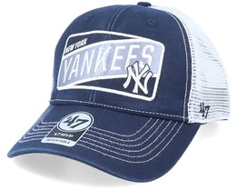 New York Yankees Mvp Slash Patch Navy/White Trucker - 47 Brand