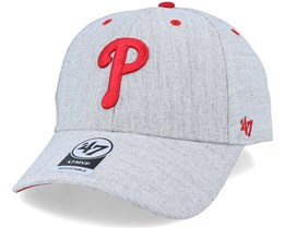 Philadelphia Phillies Storm Cloud Mvp Charcoal/Red Adjustable - 47 Brand
