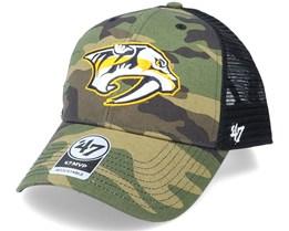 Nashville Predators Camo Branson Mvp Green Camo/Black Trucker - 47 Brand
