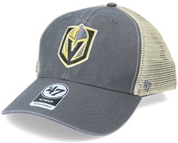 Vegas Golden Knights Flagship Wash Mvp Charcoal/Beige Trucker - 47 Brand
