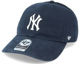 New York Yankees Upland Clean Up Dad Cap Vintage Black Adjustable - 47 Brand
