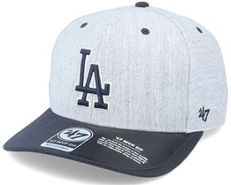 Los Angeles Dodgers Storm Cloud TT Mvp DP Heather Grey/Navy Adjustable - 47 Brand