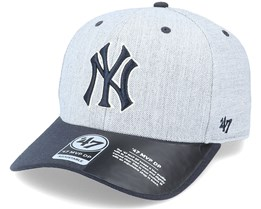 New York Yankees Storm Cloud TT Mvp DP Heather Grey/Navy Adjustable - 47 Brand