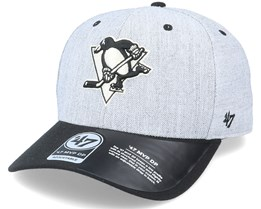 Pittsburgh Penguins Storm Cloud TT Mvp DP Heather Grey/Black Adjustable - 47 Brand