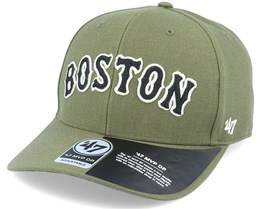 Boston Red Sox Chain Link Script Mvp DP Sandalwood Green/Black Adjustable - 47 Brand