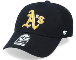 Oakland Athletics Mvp Black/Yellow Adjustable - 47 Brand