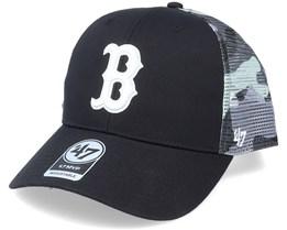 Boston Red Sox Back Switch Mvp Black/Camo Trucker - 47 Brand