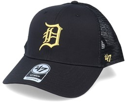 Detroit Tigers Branson Metallic Mvp Black/Gold Trucker - 47 Brand