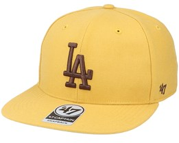 Los Angeles Dodgers No Shot Captain Wheat/Brown Snapback - 47 Brand