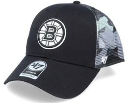 Boston Bruins Back Switch Mvp Black/Camo Trucker - 47 Brand