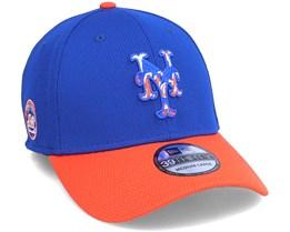 New York Mets MLB 39Thirty Batting Practise Blue/Orange Flexfit - New Era