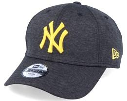 Kids New York Yankees Shadow Tech 9Forty Heather Black/Yellow Adjustable - New Era