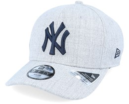 Kids New York Yankees Heather Base 9Fifty Heather Grey/Dark Navy Adjustable - New Era