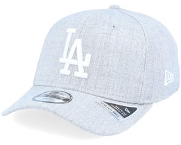 Kids Los Angeles Dodgers Heather Base 9Fifty Ss Heather Grey/White Adjustable - New Era