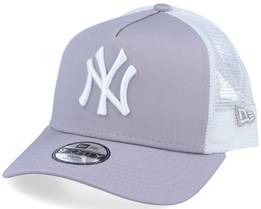 Kids New York Yankees Essential 9Forty A-Frame Grey/White Trucker - New Era