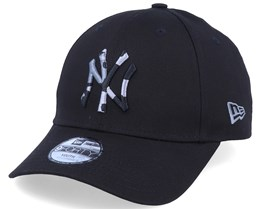 Kids New York Yankees Camo Infill 9Forty Black/Black Camo Adjustable - New Era