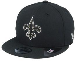 Kids New Orleans Saints NFL 20 Draft Official 9Fifty Black Snapback - New Era
