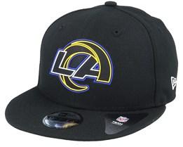 Kids Los Angeles Rams NFL 20 Draft Official Jr 9Fifty Black Snapback - New Era
