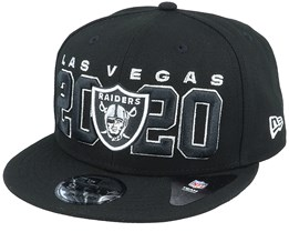 Las VegasRaiders NFL 20 Draft Official 9Fifty Black Snapback - New Era