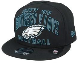 Philadelphia Eagles NFL 20 Draft Alt 9Fifty Black Snapback - New Era