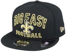 New Orleans Saints NFL 20 Draft Alt 9Fifty Black Snapback - New Era