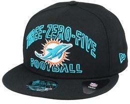 Miami Dolphins NFL 20 Draft Alt 9Fifty Black Snapback - New Era