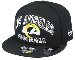 Los Angeles Rams NFL 20 Draft Alt 9Fifty Black Snapback - New Era