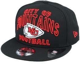 Kansas City Chiefs NFL 20 Draft Alt 9Fifty Black Snapback - New Era