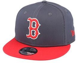 Boston Red Sox League Essential 9Fifty Dark Grey/Red Snapback - New Era